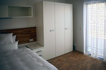 City-Apartment Heilbronn Block A Apartment Einzelzimmer Bett